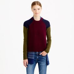 Leave it to J. Crew to introduce another variation on the scarf.  Wear it on the INSIDE.  Pretty cool!