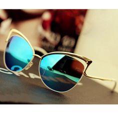 New Fashion Ice Blue Cateye Sunglasses Women Brand new. Accessories Sunglasses