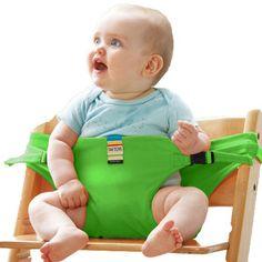 JUGUETES TAF Infantil Silla de Comedor Asiento Portátil Almuerzo Estirable Silla Del Cinturón de Seguridad Arnés de Asiento de seguridad del bebé Silla de Alimentación