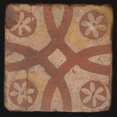Medieval tile, Aisne, France