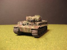 Flames of War, German SS Tiger tank, front view