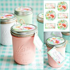 Beautiful Mason Jars  and Handmade Gift Idea  for any occasion. There is so much you can do with Mason Jars and making handmade gifts is one of my favorite things to do with them! Inspired by Spring and the gorgeous colors and flowers that I'm seeing outside, I made these adorable jars.     MATERIALS Pint Size Mason …