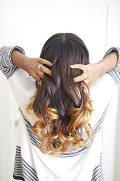 Finger combing my curls ensures bouncy and beautiful waves! #beauty How to Get Wavy Hair | @StyleCaster @TRESemmé