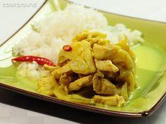 Pollo al curry con le mele. eliminando olio e riso va bene in F2, completo  F3