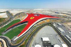 Ferrari World Theme Park in Abu Dhabi  #infrastructure #ferrari #world #theme #park #dhabi #photography