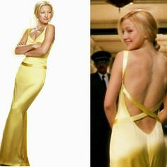 Famous  Kate Hudson how to lose a guy slip dress Stunning,  elegant,  and show stopping gown.  Looks beautiful with simple jewelry. 100% silk.  Only worn once.  Size says XL but fits more like M/L,  however would honestly look flattering on any body type. Dresses Prom