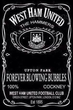 West Ham United & Jack Daniel's Tennessee Whiskey - Two of my favourite things combined West Ham Badge, Kentucky, Jack Daniel's Tennessee Whiskey, West Ham United Fc, Soccer Art, Fc B, Blowing Bubbles