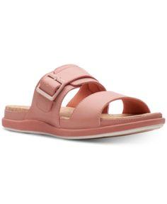 40789adb0 Clarks Women Cloudsteppers Step June Tide Slide Sandals Women Shoes
