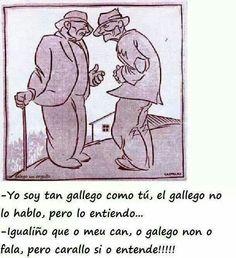 O galego non o falo...