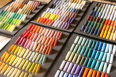 Unison colours make the most beautiful pastels. Look at that array of colours sure to make any artist's little heart beat with joy.