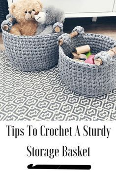 how to crochet a sturdy basket. Tips and tricks to help you pick out the right yarn and hook.