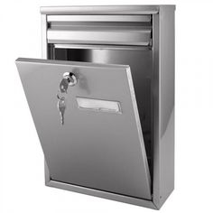 Zaguan Locking Wall-Mount Mailbox - Stainless Steel