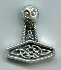 Based on traditional Norse designs - 38mm H x 32mm W - Sterling Silver - 16.9…