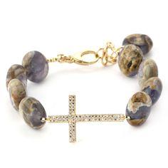 Lollies Chalcedony Cross Bracelet