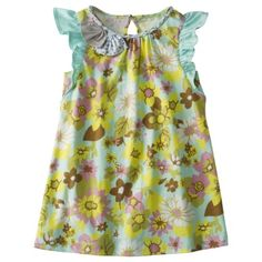 Love the colors and sleeves of this toddler dress.