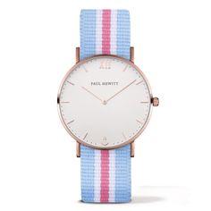 Watch Sailor Line White Sand IP Rose Gold Nato Strap Light Blue-White-Light Pink