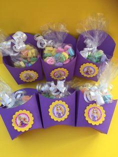 Set of 6 Rapunzel Favor boxes