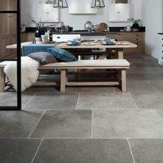 Lucca Limestone Tumbled Stone Tile cm Ca Pietra Stone Interior, Limestone Tile, Natural Stone Flooring, Style Tile, Tumbled Stones, Color Tile, Commercial Interiors, Lucca, Tile Design