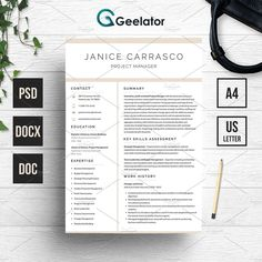 Resume Template 3 Pages by Geelator on @creativemarket