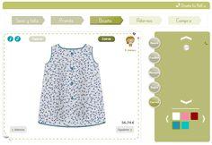 2) Tendrás que hacer lo mismo para todas las piezas del vestido: cuello, mangas, bajos y cierres.  ¡Así de sencillo es diseñar moda infantil en NutLu!   Ten en cuenta que puedes ver tanto la parte trasera como delantera de la prenda.