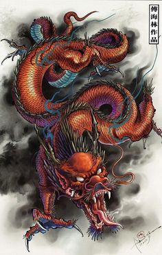 Image result for chinese dragon tattoo arm