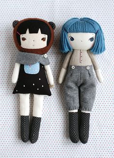 :: Crafty :: Cloth Doll :: 2 :: friends | by a.little.sprout