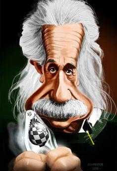 Caricature Albert Einstein