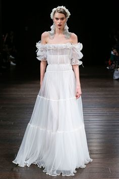 The 10 Best New Wedding Gowns, Straight From Bridal Fashion Week Photos | W Magazine