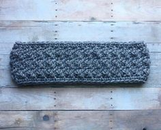 Crochet Winter Headband Yoga Headband Messy Bun Gray More