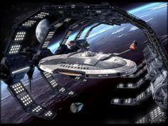 Star Trek | ship in dock.
