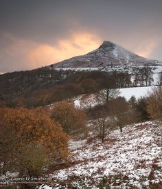 December Snow At Roseberry Topping Portrait - The North Yorkshire Gallery Yorkshire England, Yorkshire Dales, North Yorkshire, Snow Scenes, Winter Scenes, Home History, British Countryside, Country Landscaping, Middlesbrough
