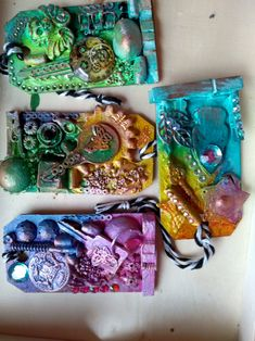 Keychain, Upcycle, Tags Upcycle, Steampunk, Tags, Upcycling, Repurpose, Mailing Labels, Recycling