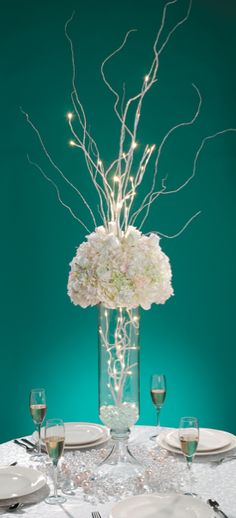 Tiffany Blue Wedding Decorations   Centerpiece David Tutera And Available  At Michaels