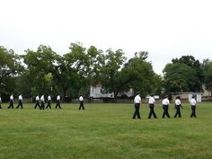 Cadre getting into formation before introductions. VWIL, August 2014, Mary Baldwin College