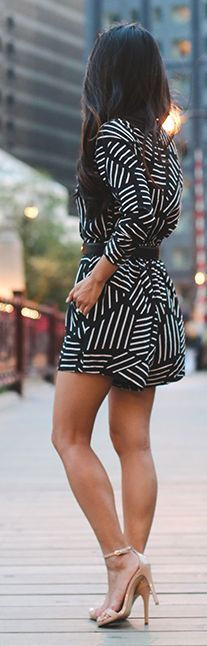 Graphic Print Romper by Extra Petite