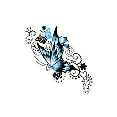 butterfly with flower tattoos for women    New butterfly tattoos images for you