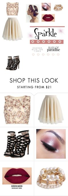 """""""Sparkle"""" by xxpinkfashionistax ❤ liked on Polyvore featuring Raishma, Chicwish, Too Faced Cosmetics and Smashbox"""