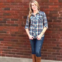 This may just be the softest button up you'll ever own! It just isn't Fall without a Classic Plaid Button Up!! http://www.brandisboutiqueshop.co/item_2119/Plaid-Button-Up.htm.