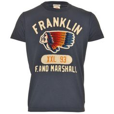 Franklin and Marshall Indian Chief tee, available in navy and white. On todays daily deal, now reduced to £38.50!!