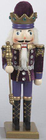 Wooden Purple King Christmas Nutcracker