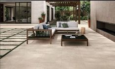 Luxstone sand tiles make any outdoor space look like a million $$ (...but don't worry, they're not priced as such)   #tiles #porcelain #design #DIY #home #garden #outdoor #flooring #homedecor Limestone Paving, Outdoor Flooring, Don't Worry, Outdoor Spaces, Outdoor Furniture Sets, Outdoor Rooms