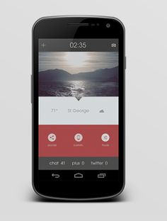 Beautiful Mobile Interface With Lots Of Info But Very Simple