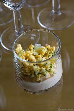 Meersmaak: Hapje met asperges, ei en grijze garnalen