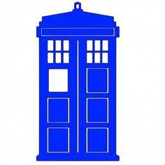 Dr Who Tardis, fille print and cut