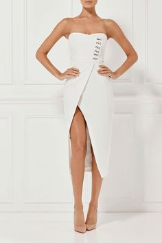 36b673df879f A collection of white bodycon dresses,white summer dress, white backless  dress in various styles at Misha Collection. Shop the latest dress for  races on the ...