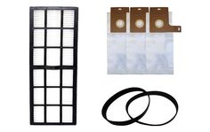 Filter, Bag, and Belt Kit for Eureka Upright Vacuums, Part Nos. 61850, 61515C-6, 61120