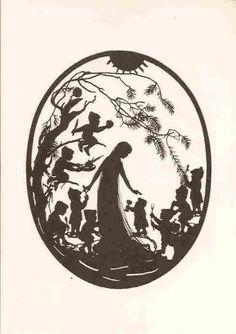 Märchen: Scherenschnitt Schneewittchen u.d. 7 Zwerge | eBay