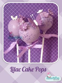 Lilac Butterfly Cake Pops
