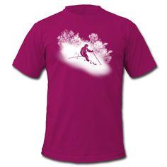 Design Alpin Ski Männer T-Shirt von American Apparel
