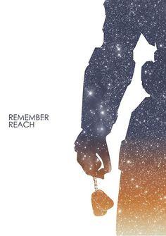 Halo Reach Retro Poster
